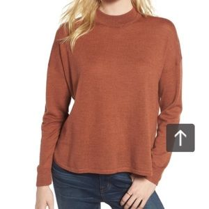 Madewell Mockneck Boxy Pullover sweater